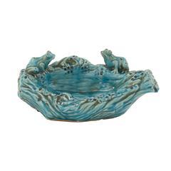 Benzara Distinctive Ceramic Frog Bowl