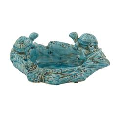 Rivetingly Styled Ceramic Turtle Bowl