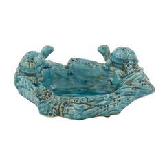 Benzara Rivetingly Styled Ceramic Turtle Bowl