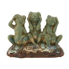 Benzara Lovely And Righteous Ceramic Frog