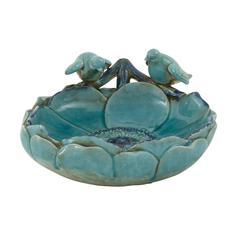 Benzara Timeless And Classic Ceramic Bird Basin