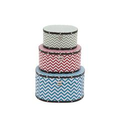 Benzara Zig - Zag Patterned Wood Vinyl Box