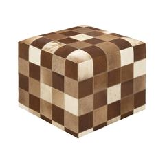 Benzara Timeless And Beautiful Wood Leather Ottoman