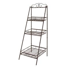 Benzara The Useful Metal 3 Tier Shelf