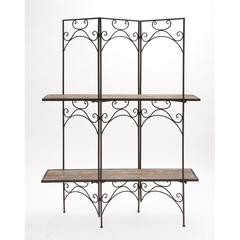 The Cool Wood Metal Screen Shelf