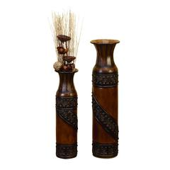 Benzara Metal Vase S/2 Easy To Clean