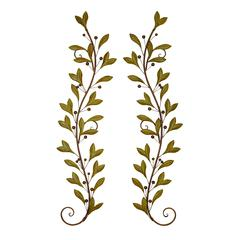 Benzara Metal Wall Decor Pair Adored Beautifully With Leaves And Beads