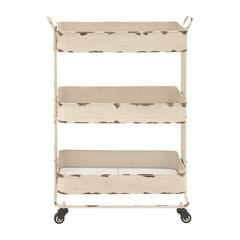 Benzara Traditional And Timeless Metal 3 Tier Cart