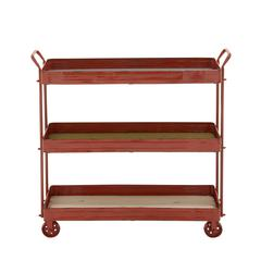 Benzara Simply Distinctive Metal Storage Cart