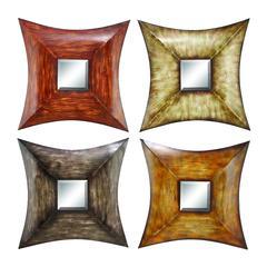 Benzara Metal Mirr Decor 4 Asst A Set Of Four