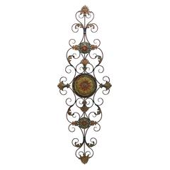 Benzara Metal Scroll Decor For Everlasting Decoration