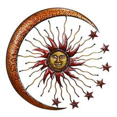 Benzara Metal Sun Moon Wall Decor Makes The Room Feel Natural