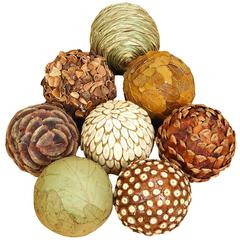 Natural Ball S/8 Set Of Eight Bamboo Wood Balls
