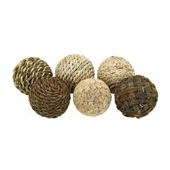 Benzara Decorative Ball With Beautiful Design (Set Of 6)