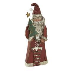 Benzara Charming Wood Santa
