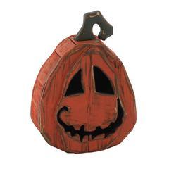 Funny Face Wood Pumpkin