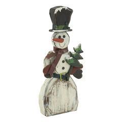 Funny Wood Snowman
