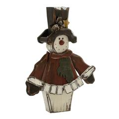 Benzara Quirky Wood Red Snowman