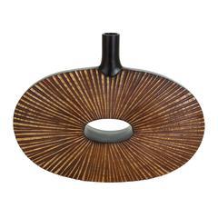 Benzara Oval Shaped Polystone Vase