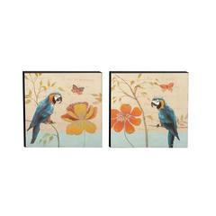 Benzara Cool And Colorful Canvas Art 2 Assorted