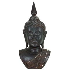 Polystone Buddha Bust Symbol Of Happiness