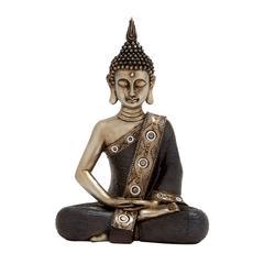 Benzara Simply Divine Polystone Sitting Buddha