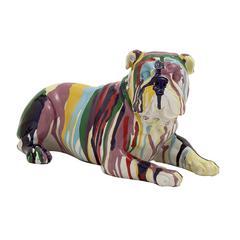 Cute And Colorful Polystone Bulldog