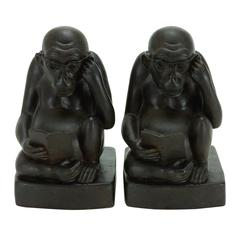 Polystone Monkey Bookend Pair A Kids Craze