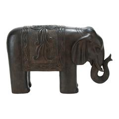 17 Inches High Polystone Elephant Decor Rare To Find Elsewhere