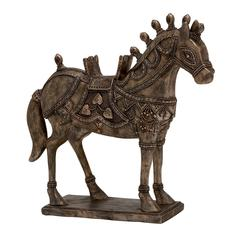 Richly Decked Polystone Horse Statue