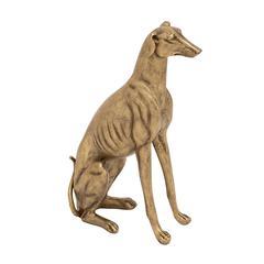 Benzara Mesmerizing Polystone Sitting Dog Sculpture