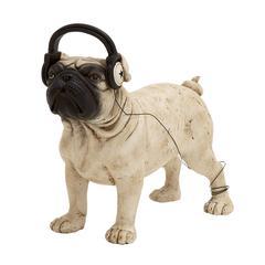 Benzara Simply Beautiful Polystone Dog Headphone