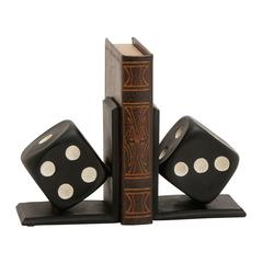 Lovely Polystone Dice Bookend Polyresin