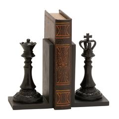 Royal Polystone Chess Bookend Polyresin