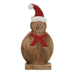 Benzara Funny, Endearing Wood Snowman