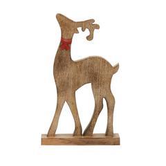 Benzara Natural Wood Finish Reindeer