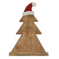 Benzara Wooden Carved Adorable Christmas Tree