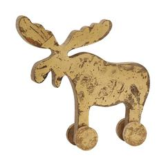 Benzara Natural Wood Finish Reindeer