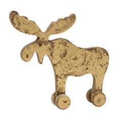 Benzara Cream Wood Finish Reindeer