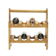 Benzara Useful And Cool Wood Wine Caddy