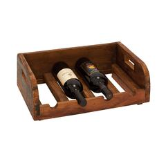 Grand And Polished Wood Wine Bottle Holder