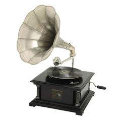 "Wood Gramophone 26""H, 14""W Unique Home Accents"
