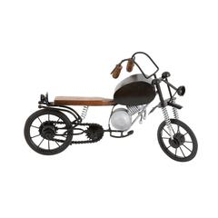 Benzara Metal Wood Motorcycle Elaborate And Realistic Details