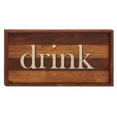 Benzara Guiding Easily Wood Drink Wall Sign