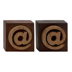 Benzara Distinctive Wood Block Symbol 2 Assorted