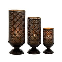 Appealing Set Of Three Metal Candle Holders