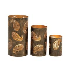 Benzara Gorgeous Set Of Three Metal Candle Holders