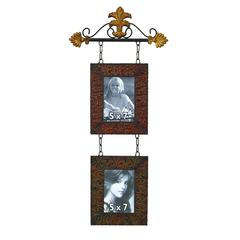 Metal Wall Photo Frame Decor Item With Family Statement