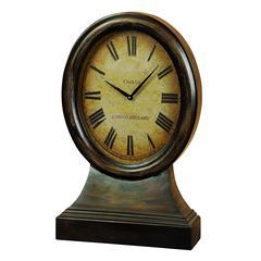 Benzara Wood Table Clock Looks Like Coordinating Antique Table Decor