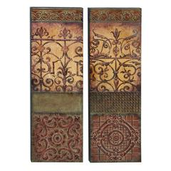 Benzara Metal Wall Decor Set Of 2 Great Decor Sense